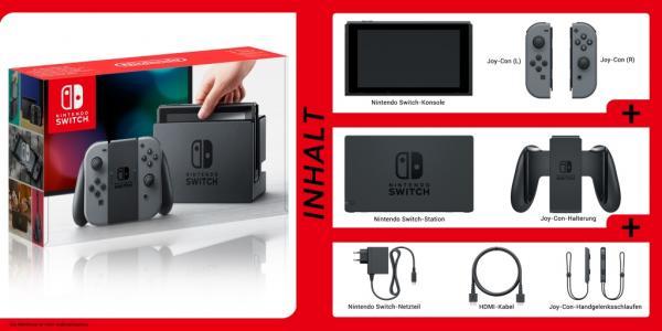 Switch Verpackungsinhalt