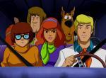 Die Scooby-Doo-Crew der Zeichentrickserie in ihrem Einsatzbus