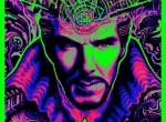 Psychedelisches Schwarzlichtposter zu Marvels Doctor Strange