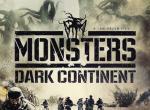 Plakat mit Soldaten im Vordergrund, Monstern im Hintergrund