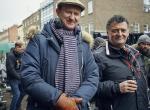 Mark Gatiss und Steven Moffat am Set von Sherlock The Abominable Bride